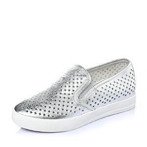 Tata/他她春季专柜同款贴膜牛皮舒适坡跟女单鞋2OO22AM6女乐福鞋