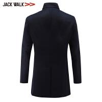 【满300减30】拉夏贝尔男装Jackwalk立领羊毛大衣冬季新品中长款大衣外套男