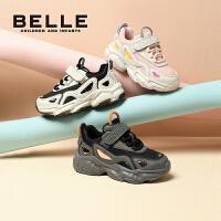 【券后价:183.7元】百丽童鞋男童老爹鞋2021秋季新款女中童休闲跑步鞋儿童透气运动鞋