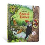 【中商原版】动物的家 英文原版 Look Inside Animal Homes 翻翻纸板书 Usborne 3-6岁