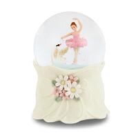 音乐盒 芭蕾公主仿水晶球八音盒 生日礼物男送女友老婆闺蜜女朋友实用情侣创意礼品 芭蕾小公主与天鹅水球