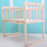 新生儿婴儿床实木无漆环保摇篮床童床多功能bb床可拼接大床宝宝床J26