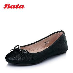 Bata/拔佳春季压纹牛皮女休闲鞋54601AQ6