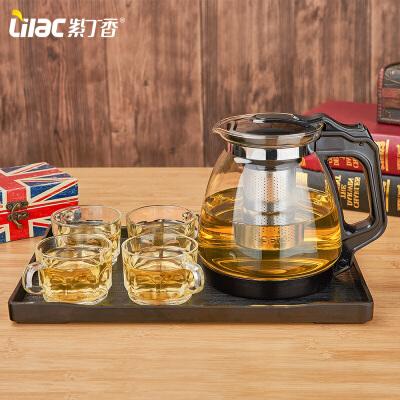 大容量花茶壶普洱茶壶不锈钢泡茶壶茶具玻璃过滤茶壶