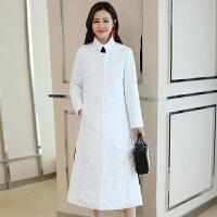 民族风棉衣女冬装韩版轻薄羽绒修身棉袄长款过膝外套