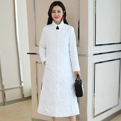 民族风棉衣女冬装韩版轻薄羽绒修身棉袄长款过膝外套 一般在付款后3-90天左右发货,具体发货时间请以与客服协商的时间为准