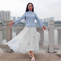 云南民族风秋冬加厚民国风女装中式唐装少女改良旗袍套装裙两件套