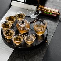 泡茶盘陶瓷茶台泡茶玻璃茶壶茶杯日式功夫茶具套装家用简约礼品