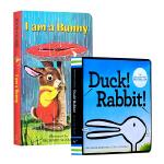 【中商原版】I Am a Bunny我是一只兔子 Duck! Rabbit!鸭子还是兔子 英文原版纸板书2册 吴敏兰书