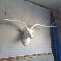 鹿头壁挂创意墙饰欧式家居客厅会所挂件动物头装饰品