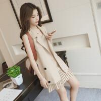 2017新款马甲时尚套装女夏韩版吊带气质chic小香风名媛两件套裙子