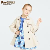 【3件2折 到手�r:260】Pawinpaw��英��小熊童�b款女童淑女�A棉�L衣外套�和��p排扣休�e