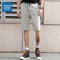 [到手价:35.9元]真维斯男装 夏装新款 针织布基本及膝短裤