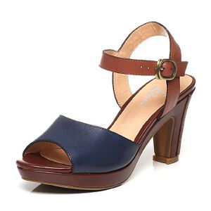 BATA/拔佳夏季专柜同款打蜡羊皮女凉鞋F9-84BL6