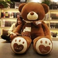 太极熊玩具韩版洋娃娃玩具熊浣熊女朋友太极熊毛绒玩具泰迪熊女孩玩。 促销 直角量1.4米全长量1.2米