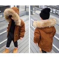 儿童棉衣加厚男童羽绒棉袄2018新款冬装宝宝韩版小童洋气外套