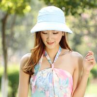 女士大沿可折叠防晒凉帽户外太阳帽帽子女春夏防晒遮阳帽