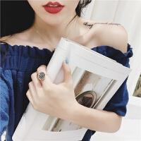 ?【雪梨生活ACC】港风复古网红食指戒女学生韩国简约个性印章戒指