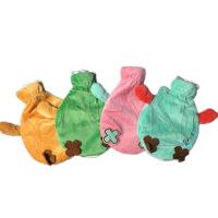 热水袋 注水暖宫毛绒可爱卡通儿童成人防爆暖水袋布套颜色随机