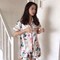 春装2018新款韩版女装简约chic宽松睡衣家居服套装休闲家居学生潮