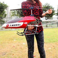 遥控直升飞机55厘米户外合金飞机充电遥控无人机飞行器模型