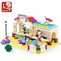 小鲁班兼容乐高女孩好朋友积木梦幻小镇系列拼装玩具模型儿童智力塑料拼插玩具6-10-12岁以上