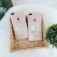 苹果7手机壳iPhone6s透明壳卡通8plus浮雕6sp可爱小清新x夏季女款