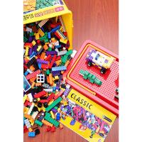 儿童积木箱小颗粒拼装玩具拼插3-6周岁男孩子女孩拼图儿童益智力拼插积木小颗粒宝宝拼装玩具3-6岁男孩子8女孩