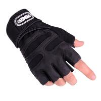 战术手套半指男夏季透气手套女士健身举重硅胶防滑哑铃加长护腕运动手套
