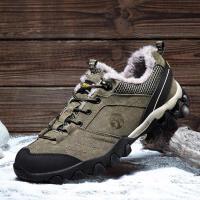 冬季加绒鞋子男户外休闲鞋男士登山鞋运动鞋跑步鞋潮棉鞋徒步