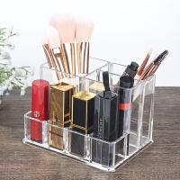 放刷子的桶化妆刷收纳桶化妆刷桶筒透明梳子筒眉笔眼线笔筒口红盒