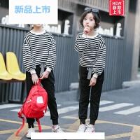 童装女童卫衣套装2018新款韩版春秋装潮中大童休闲儿童运动两件套