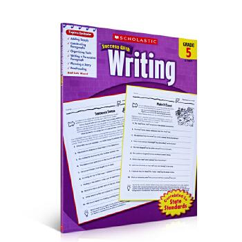 进口英文原版正版 Scholastic Success with Writing,Grade5学乐分级五年级写作英语学习练习册美国家庭教育教材教科书课外作业提升