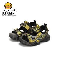 【4折价:107.6】B.Duck小黄鸭童鞋儿童2020夏季新款凉鞋软底男女童鞋机能鞋防滑潮B2185024