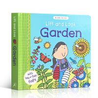 英文原版趣味翻翻揭页书 Lift and Look Garden 花园 谁在花丛中 儿童英语启蒙纸板翻翻书 亲子阅读训