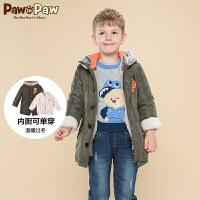 【1件3折 2件2.5折到手价:325】Pawinpaw宝英宝卡通小熊童装冬季款男童棉服