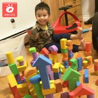EVA泡沫积木海绵大号软体大块拼装幼儿园1-2儿童益智玩具3-6周岁