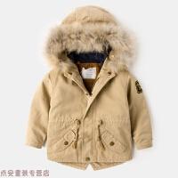 冬季儿童风衣男童大衣女童加厚加绒外套婴儿冬装2岁童装宝宝棉衣3秋冬新款
