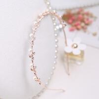 韩版压发夹头饰发饰发箍优雅发卡甜美叶子珍珠头箍