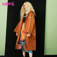 妖精的口袋秋季新款外套女2018新款工装休闲风衣女中长款韩版