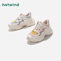 热风小清新女士时尚休闲鞋系带深口跑鞋H42W9127