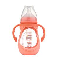 吸管PPSU手柄耐胀气宝宝用品 婴儿玻璃奶瓶硅胶宽口径带