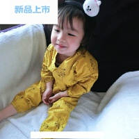 婴儿衣服1234岁纯棉春装男女宝宝和尚服睡衣家居套装儿童汉服装潮