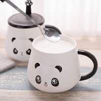 创意马克杯带盖勺陶瓷杯子可爱女学生韩版潮流咖啡杯情侣家用水杯