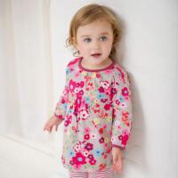 davebella 春季新生婴儿纯棉印花套装 女宝宝套装衣服