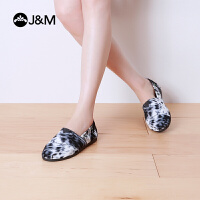 jm快乐玛丽 夏季动物系列低帮浅口套脚布鞋个性懒人帆布鞋61807W
