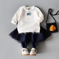 婴儿上衣女宝宝秋装长袖T恤女童打底衫公主童装新款