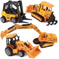儿童合金工程车套装滑行挖掘机推土车铲车叉车男孩玩具车模型