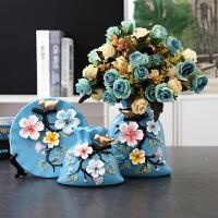 欧式陶瓷花瓶三件套摆件现代创意家居客厅饰品结婚礼物