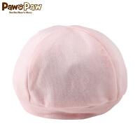 【1件3折 到手价:23】Pawinpaw卡通小熊童装18年新款男女宝宝帽子婴幼儿胎帽套头帽